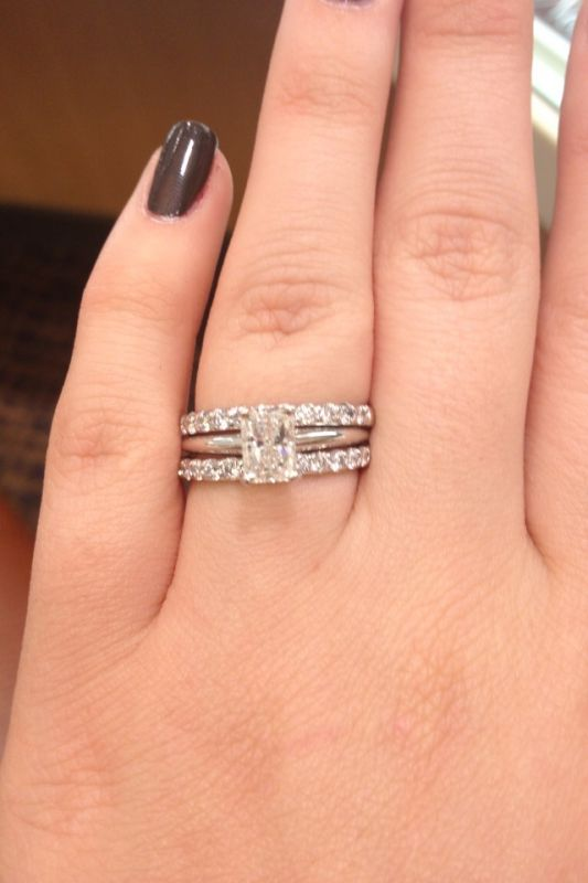 Emejing Engagement Ring With Two Wedding Bands Gallery Styles