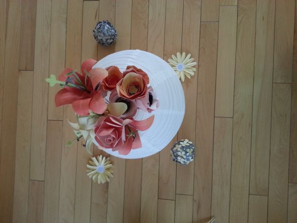 Paper flower centerpeice .. Thoughts