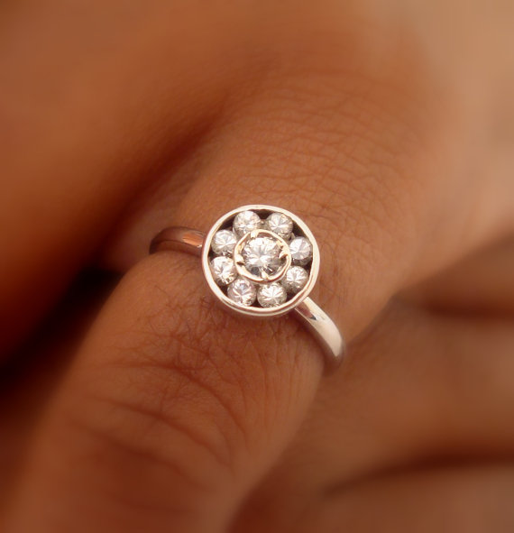 rings art flowers wedding deco daisy flower il