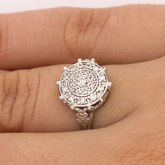 featuring in oval il fullxfull floral delicate wedding fitted ring silver sterling set daisy sapphire with engagement rings band filigree