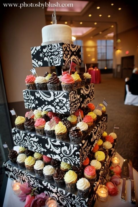 Our Custom made cupcake stand! :  wedding cake inspiration reception red Cakestand