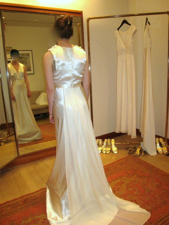 Should I wear this J. Crew wedding gown (\