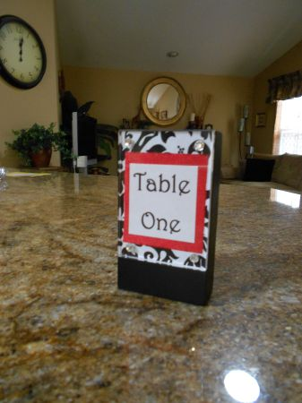 Damask Table Numbers DIY