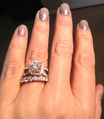 I Have Included A Picture With Comparable Eternity Ring Same Size Stones Although Not The Exact One Is It Too Much Bling Look Good Together
