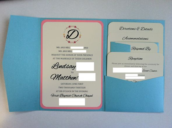 DIY WeddingChicks Modified Pocket Invitations