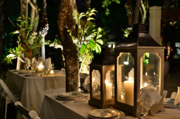 our engagement party decor at my house dorado beach