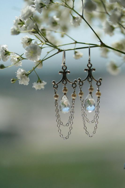 Delicate wedding earrings...