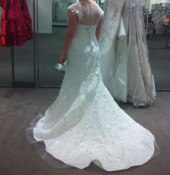 Will my dress look ok if I have train taken off?