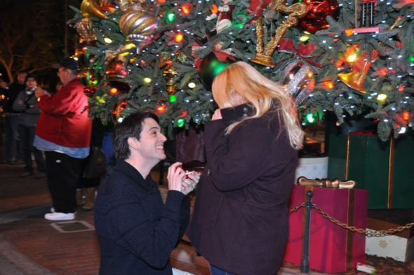 Christmas Eve Disneyland Engagement!