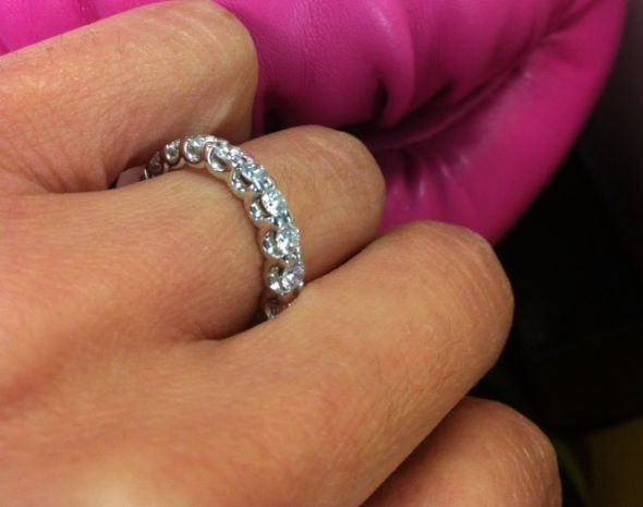 wedding eternity size white sets set amazon matching band zirconia com cubic engagement dp with solid cz gold ring bands