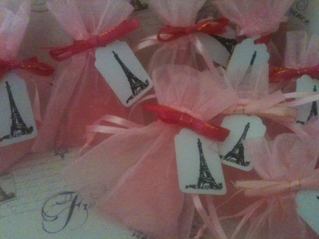 Eiffel Tower Soap Favors for Bridal Shower