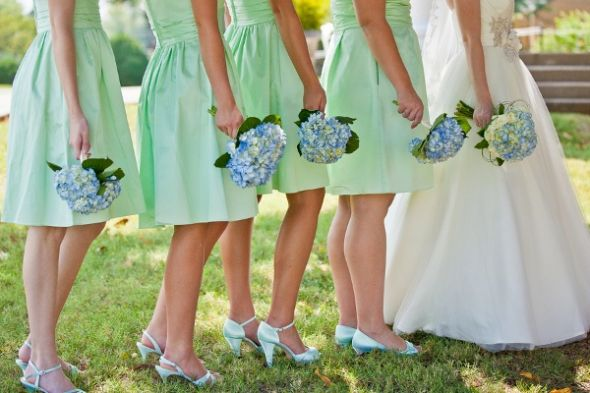 Mint Bridesmaids With Black Tuxes Need Opinions Please