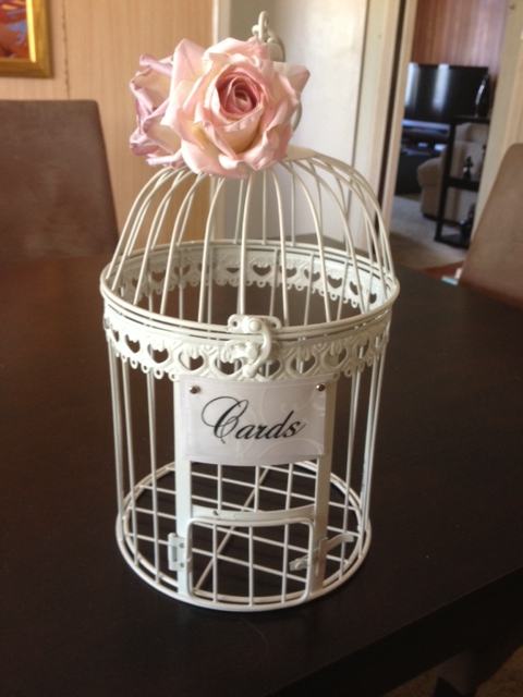 My DIY Birdcage Card holder