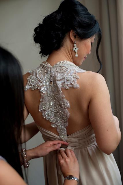 Did anyone here wear or try on an anna campbell dress for for Anna campbell wedding dress for sale