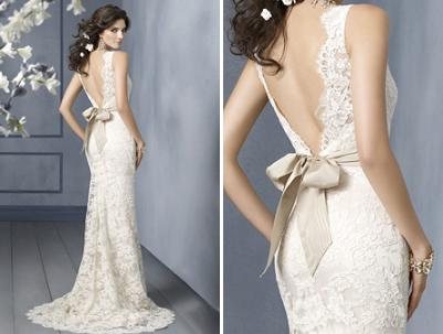 Does this dress exist?! Lace with dramatic fit n flare, open back ...