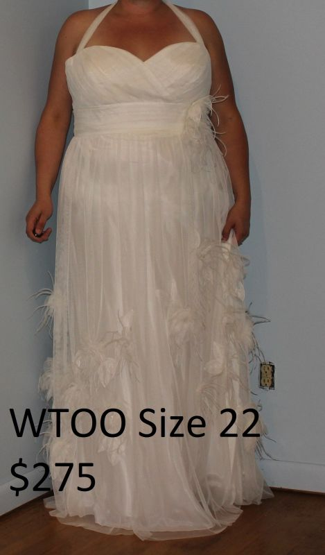 Dress #2 Alfred Angelo, White, Strapless, Chiffon, Lace, Size 20 (or Street Size  18), $200, Brand New With Tags, Dress Is Ready To Be Worn.