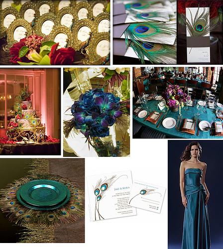 Peacock inspired wedding - Weddingbee