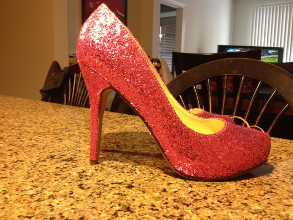 pink glitter wedding shoes! :  wedding heels pink pink glitter pumps Photo 2