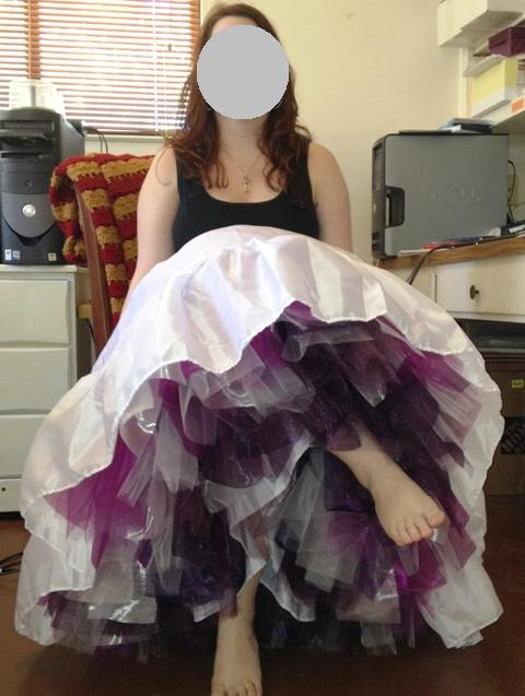 Semi DIY, no dye, crinoline