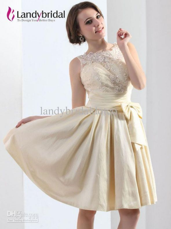 White Lace Junior Bridesmaid Dresses
