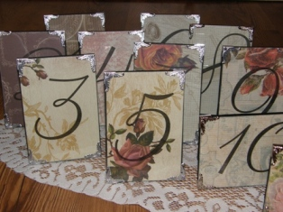 Vintage Table #'s Signs