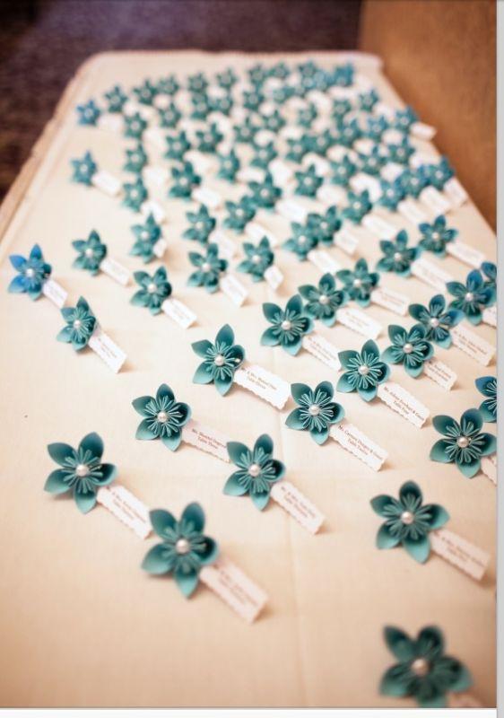 Diy paper flower place cards mightylinksfo