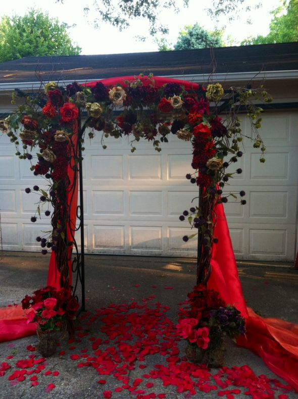 Just Finished My Wedding Arch For Fall Outdoor Ceremony Weddingbee Photo Gallery