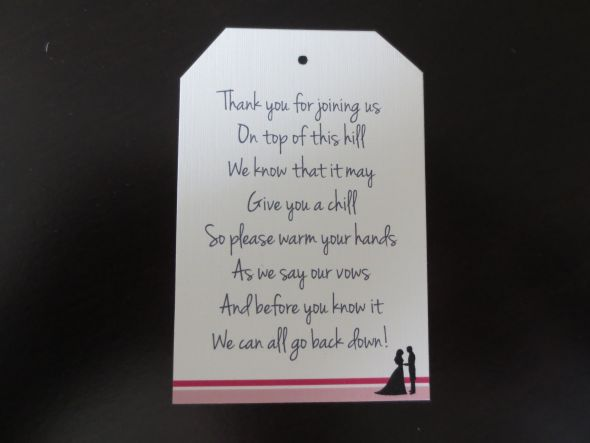 Wedding Gift Tag Wording : wedding favor thank you wording click for details wedding favor tag ...