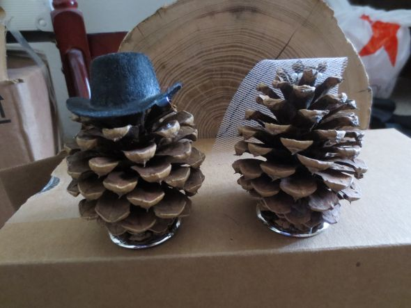 Pinecone Cake Topper :  wedding cake cake topper pinecones rustic IMG 3626