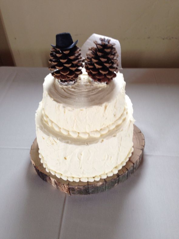 pine cone cake toppers | Eat pray love eat | Pinterest
