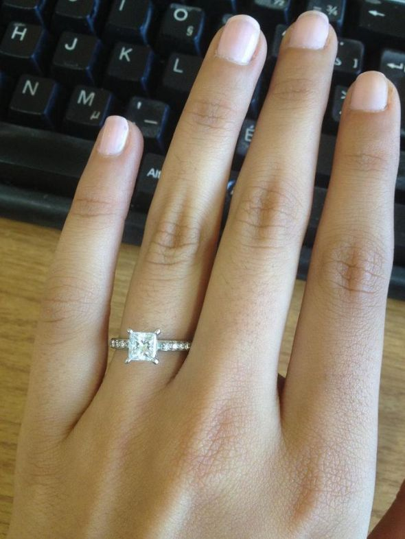 pictures of your PRINCESS CUT DIAMOND engagement rings!!!