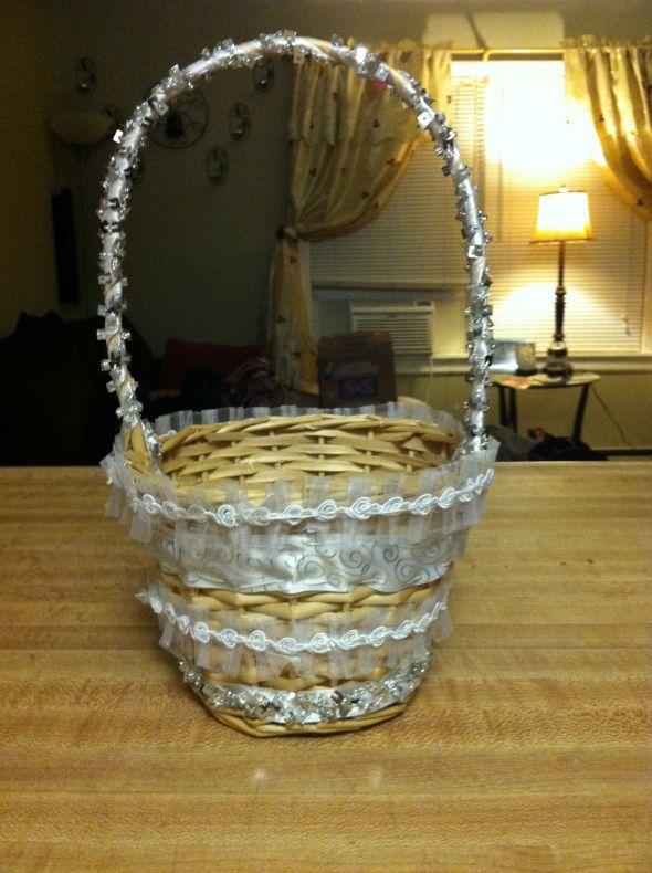 Flower Girl Basket Montreal : Diy flower girl basket