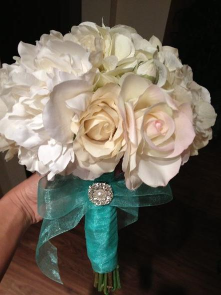 diy silk flower bouquet what do you ladies think weddingbee photo gallery. Black Bedroom Furniture Sets. Home Design Ideas
