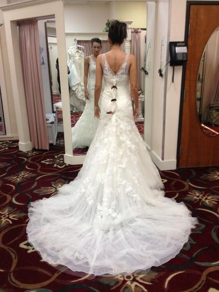 Show me your dress with sleeves weddingbee for Wedding dress rental cincinnati ohio