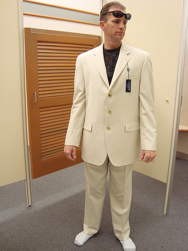Tan Suit Converse wedding Suit3