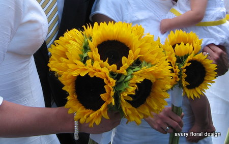 I will be making my own sunflower bouquet My inspiration is very simple