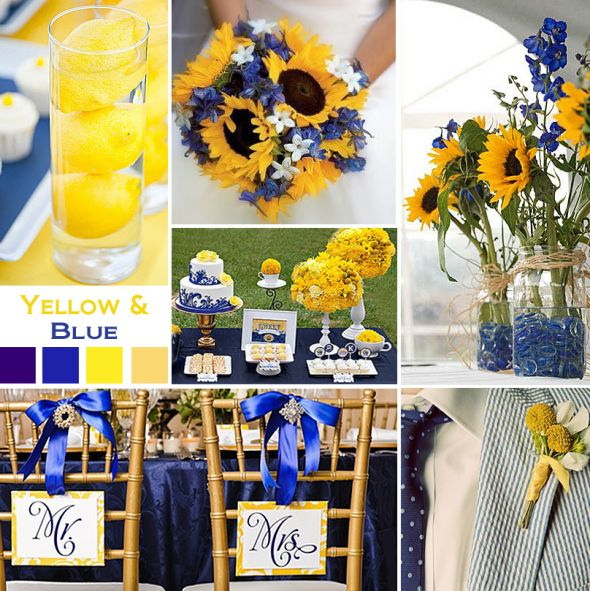 Wedding color scheme weddingbee for Blue and yellow paint combinations