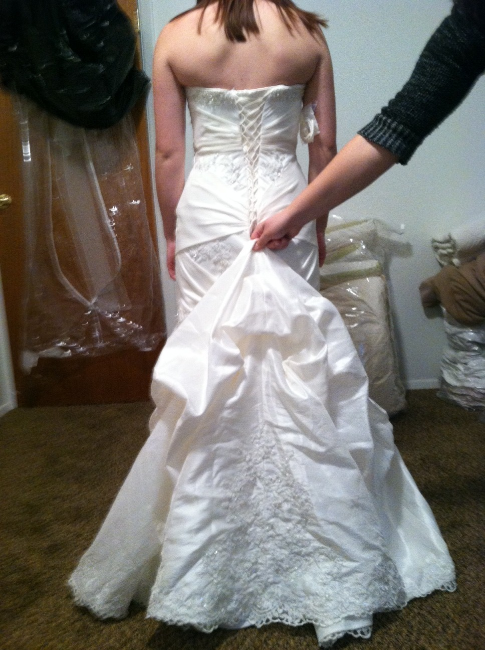 Wedding Gown Alternations – Corset Back and Bustle