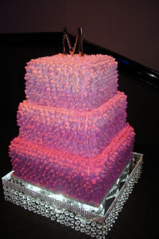 Pink Blingy Ombre Buttercream Cake