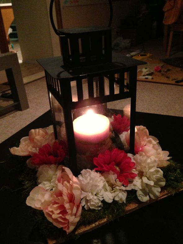 Lantern Centerpiece Mock Up