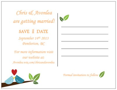 Write a save the date email