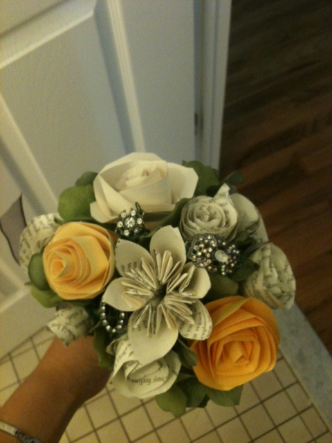 Brooch and Paper Bouquets!