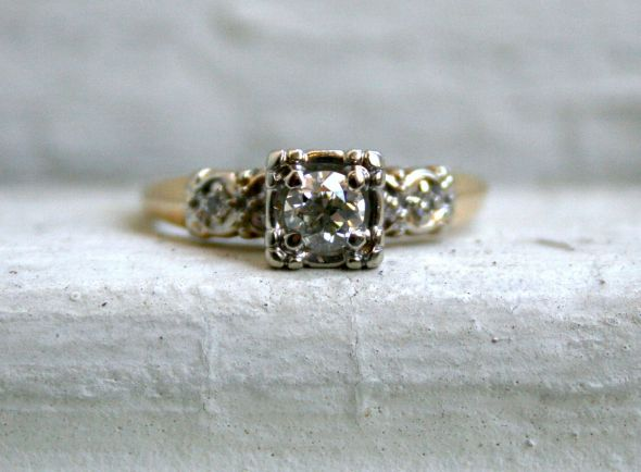 Show Me Your Mismatched Vintage Antique Wedding And E Rings