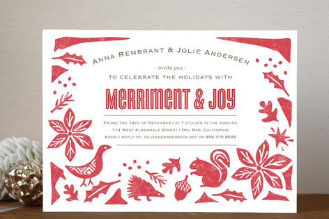 Holiday engagement party invitation wording