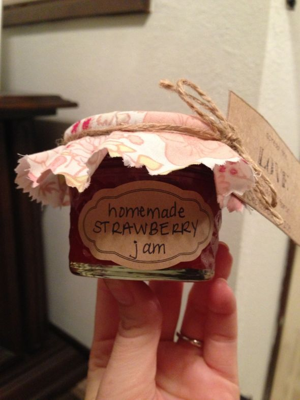 Finished our jam favors! Any suggestions on display for wedding day ...