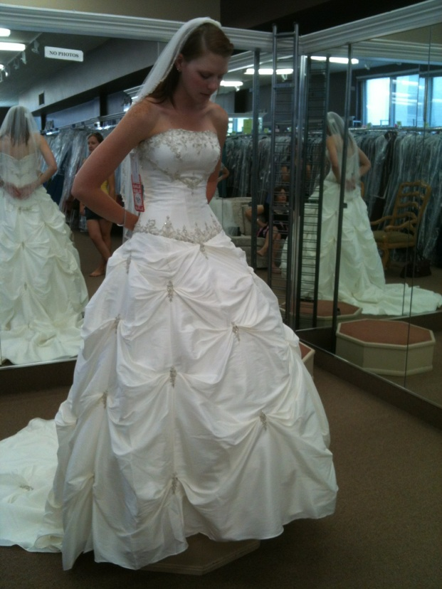 Princess Gown :  wedding ballgown ivory princess gown wedding dress Wedding Gown