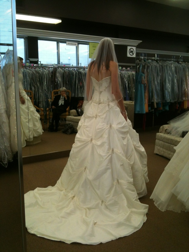Princess Gown :  wedding ballgown ivory princess gown wedding dress Wedding Gown Back