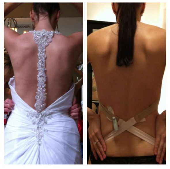 Backless Wedding Dress Bra Solutions Wedding Dresses In