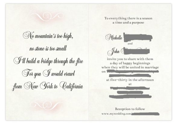 Our DIY long distance inspired wedding invitation that we designed