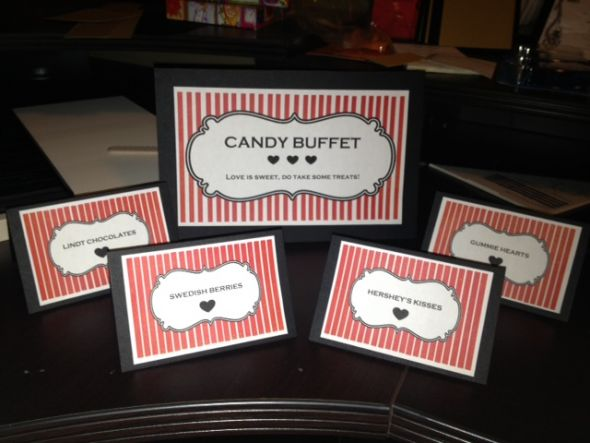 Template Trial For Candy Buffet Signs Pics